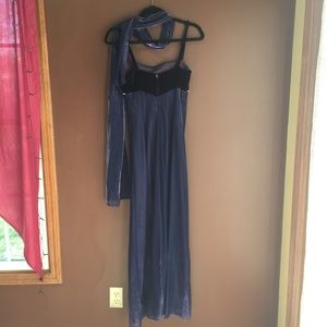 Jump Dresses - Periwinkle & Purple Long Dress and Scarf